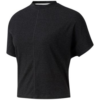 Training Essentials Ribbed T-Skjorte Dame - Sort