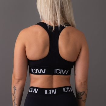 ICIW Seamless Sport Bra - Black/White