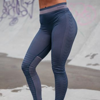Calypso Seamless Tights Dame - Blå