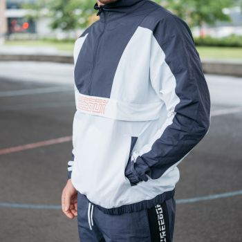 Meet You There Woven Half Zip Genser - Hvit